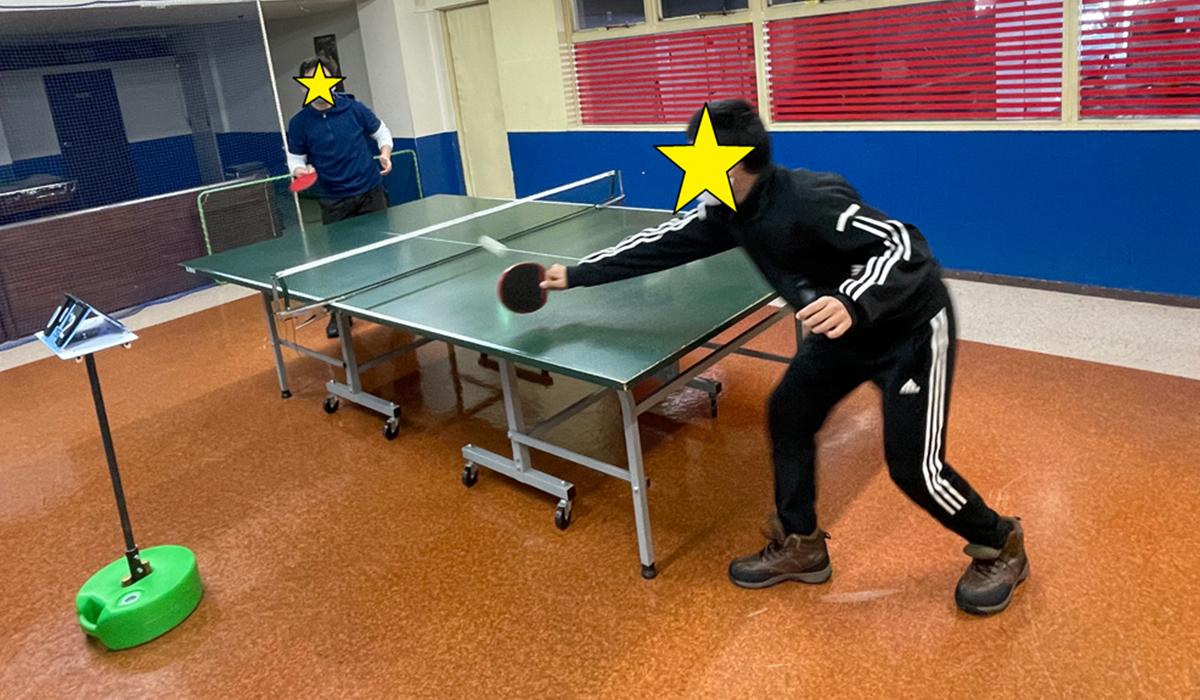 卓球中の様子1