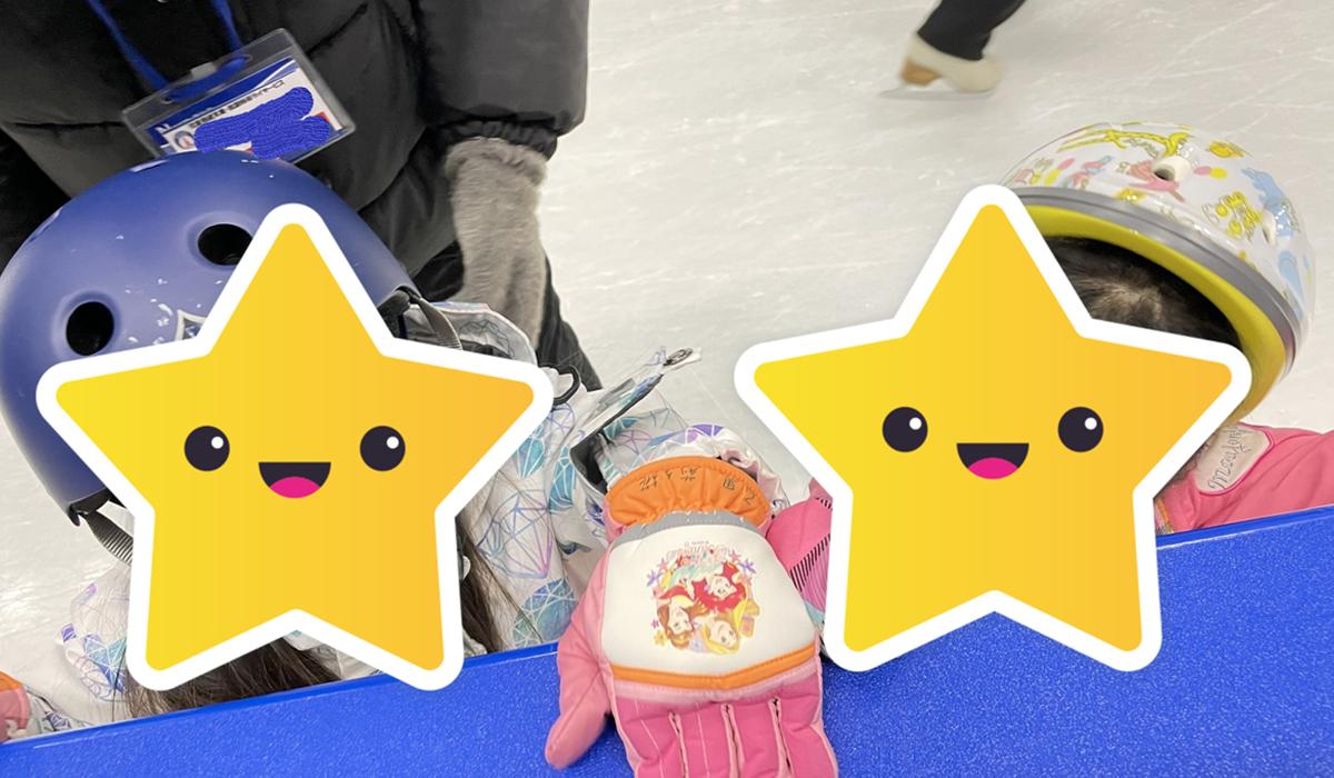 スケートをする子どもたち