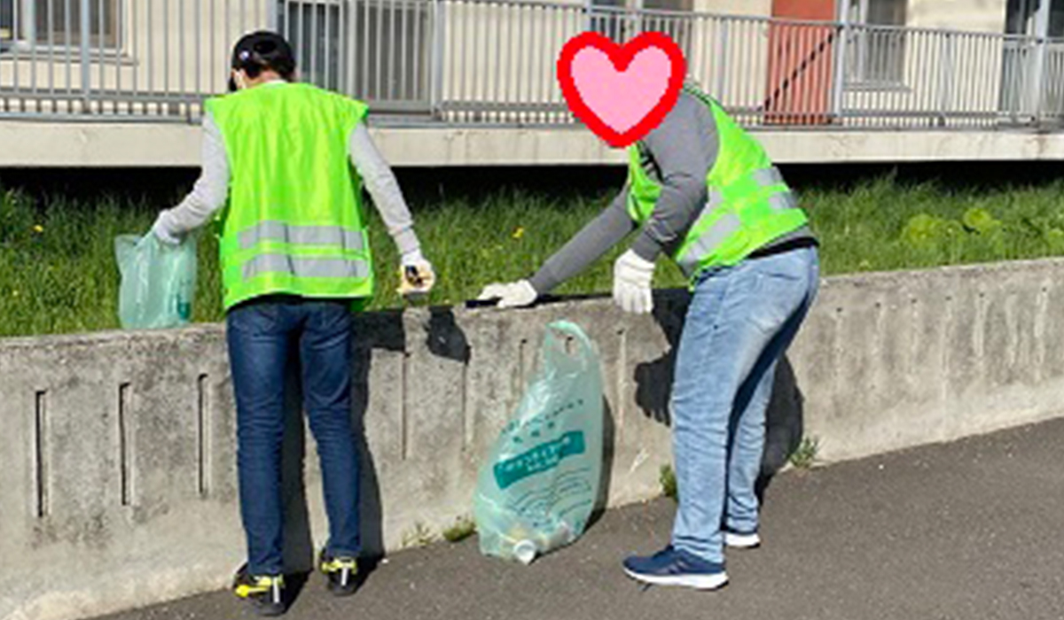 地域清掃の様子