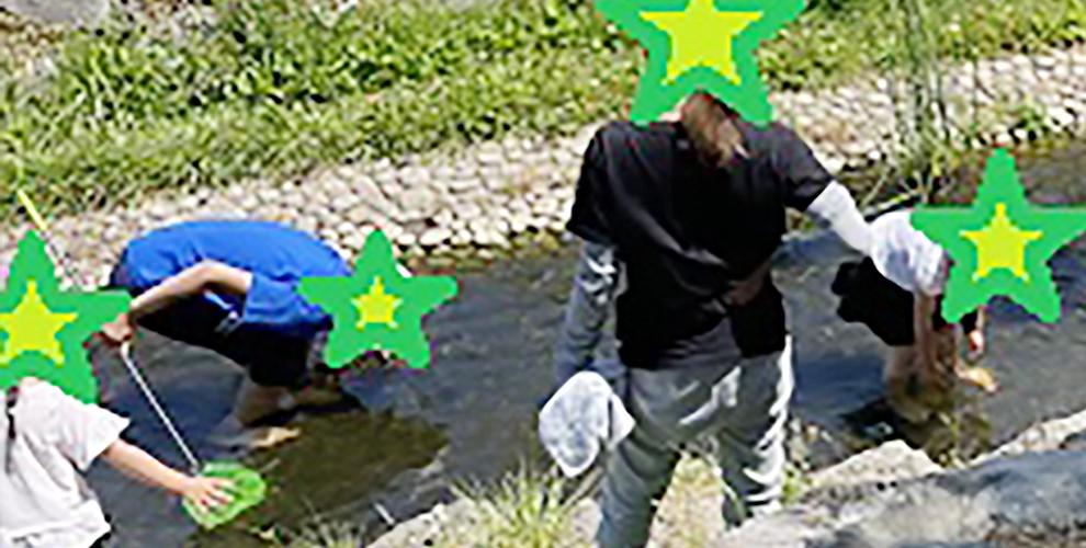 川遊びという名の社長のご飯の材料を採取しに行きました。3