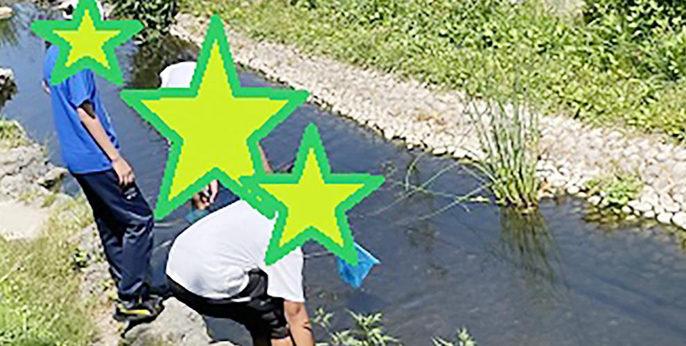 川遊びという名の社長のご飯の材料を採取しに行きました。1